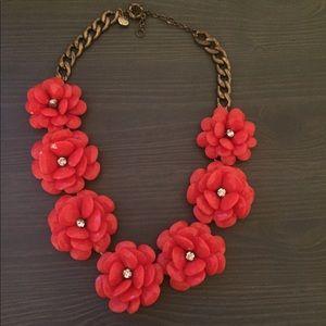 Jcrew orange flower necklace